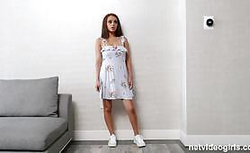 Amateur teen goes in an audition and gets her shame off when she begins to suck and gets a rough, hardcore penetration by the interviewer. Small tits fucked!