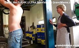 The young worker fucks his grandma by kissing her. The old woman gets fucked by the young dick and feels the maximum of pleasure when she sucks it like a pro.