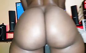 Impressive phat ass rides a big black cock. This huge ebony slut shakes hard her big ass to the camera while riding in slow motion.