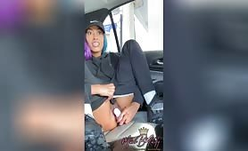 🥰 A big ass masturbating ebony gets squirting orgasm as the ebony squirts after public fuck as Miss B Nasty squirts from her creamy black pussy