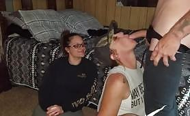 My stepsister watches as her best friend gives me the best blowjob of my life. She sucks my cock so well I held her head so she wouldn't stop.